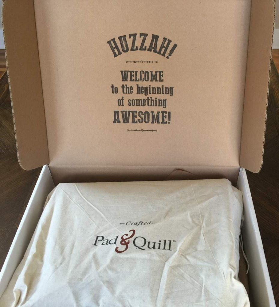 Pad&Quill packaging